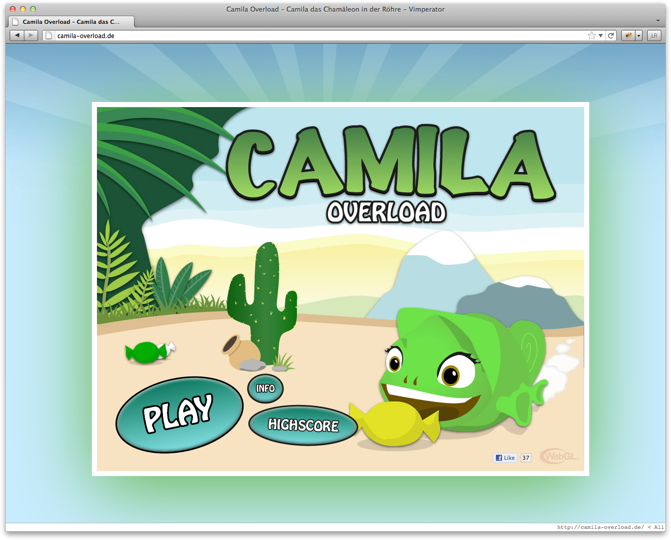 Screenshot of http://camila-overload.de