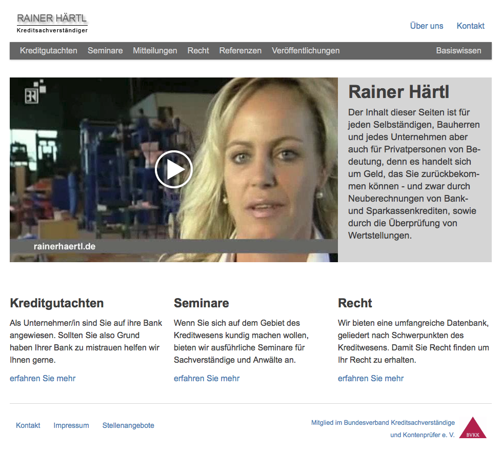 Screenshot of rainerhaertl.de